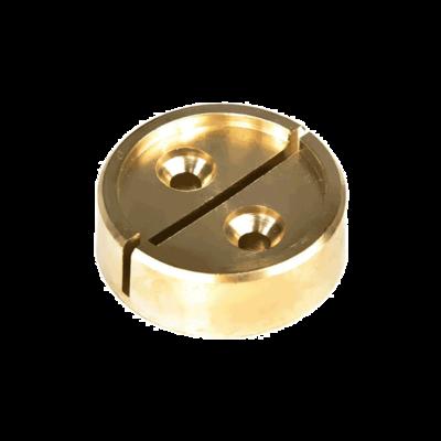 Чашка для опечатывания, латунь, диаметр 25 мм.