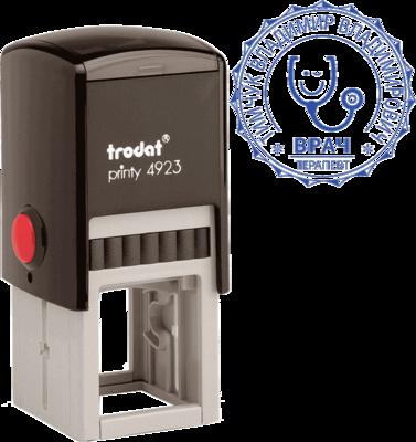Печать врача на автоматической оснастке Trodat Printy 4923 30 мм
