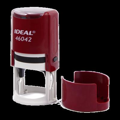 Печать на автоматической оснастке Ideal  46042, 42 мм бордовый