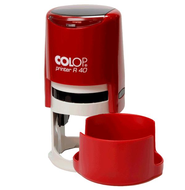 Печать на автоматической оснастке Colop R40, 40 мм, чили