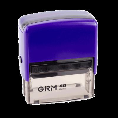 Штамп автоматический GRM 40 Office, 59x23 мм, фиолетовый