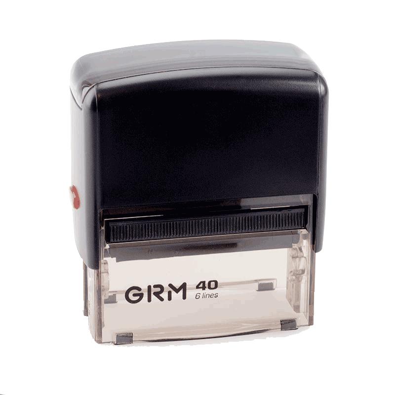 Штамп автоматический GRM 40 Office, 59x23 мм, черный