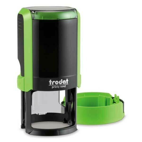 Печать на автоматической оснастке Trodat 4642 P4 NEW, 42 мм (салатовый корпус)  Новая крышка!
