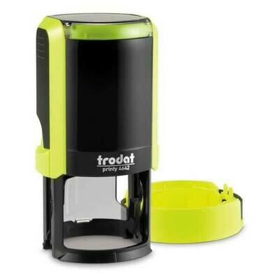 Печать на автоматической оснастке Trodat 4642 P4 NEW, 42 мм (желтый корпус)  Новая крышка!