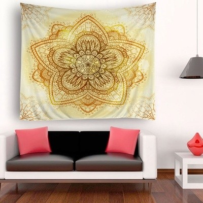 Five Petals Flower Tapestry