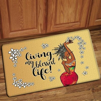 Interior Floor Mat (Living My Blessed Life)