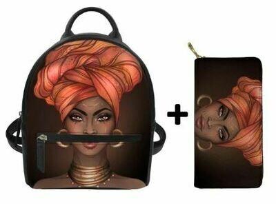 Fashion BlackPack & Wallet  (Design 24)