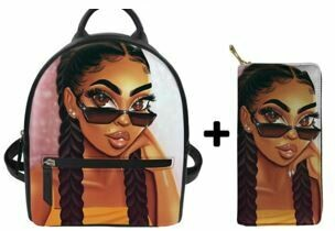 Fashion BlackPack & Wallet  (Design 38)