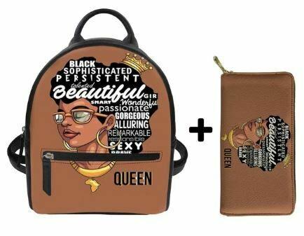 Fashion BlackPack & Wallet  (Design 20)