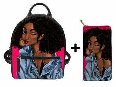 Fashion BlackPack & Wallet  (Design 34)