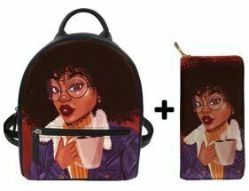 Fashion BlackPack & Wallet  (Design 36)