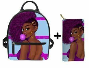 Fashion BlackPack & Wallet  (Design 50)