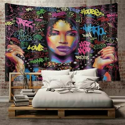 Afrocentric Wall Tapestry (Design #14)