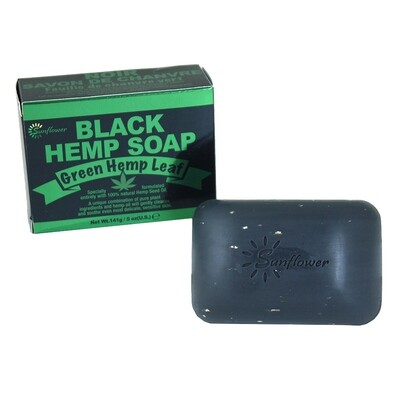 Green Hemp Leaf Black Hemp Soap