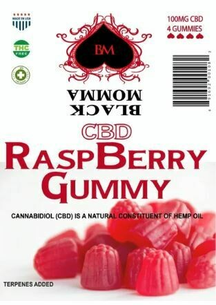 Black Momma CBD Gummies (Raspberry)
