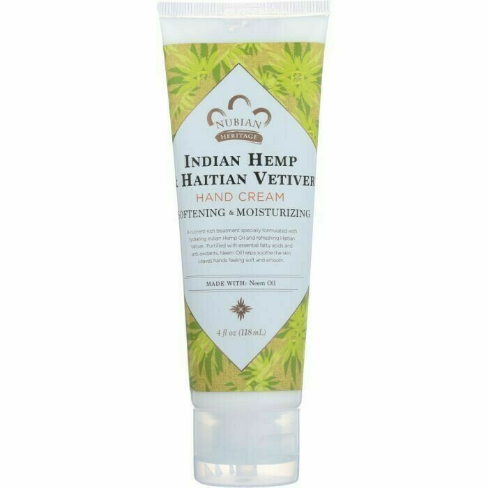 Nubian Heritage Hand Cream (Indian Hemp & Vetiver)