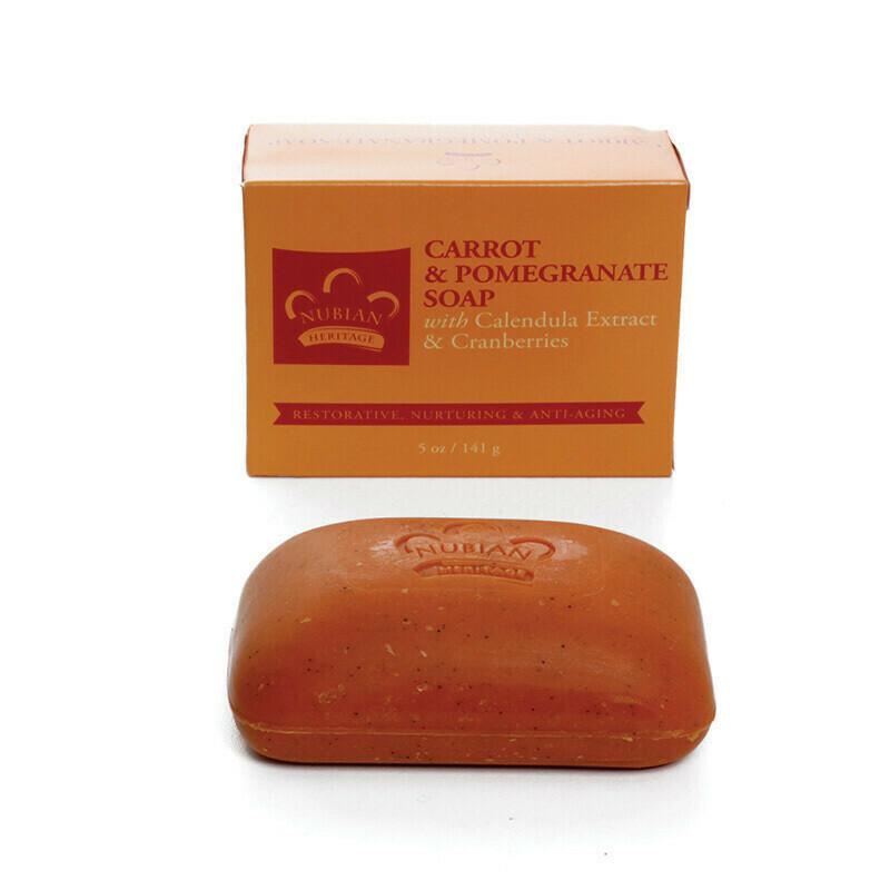 Nubian Heritage Soap (Carrot & Pomegranate)
