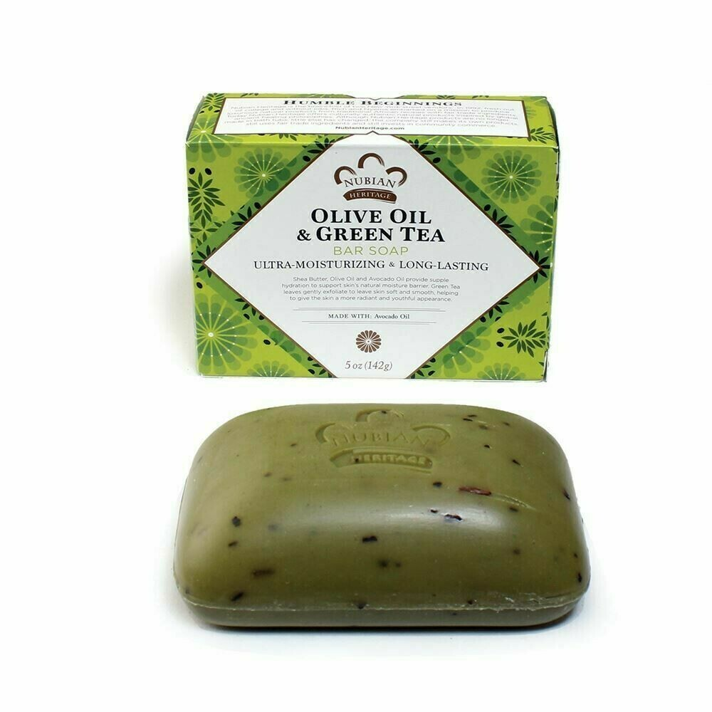 Nubian Heritage Soap (Olive Oil & Green Tea)