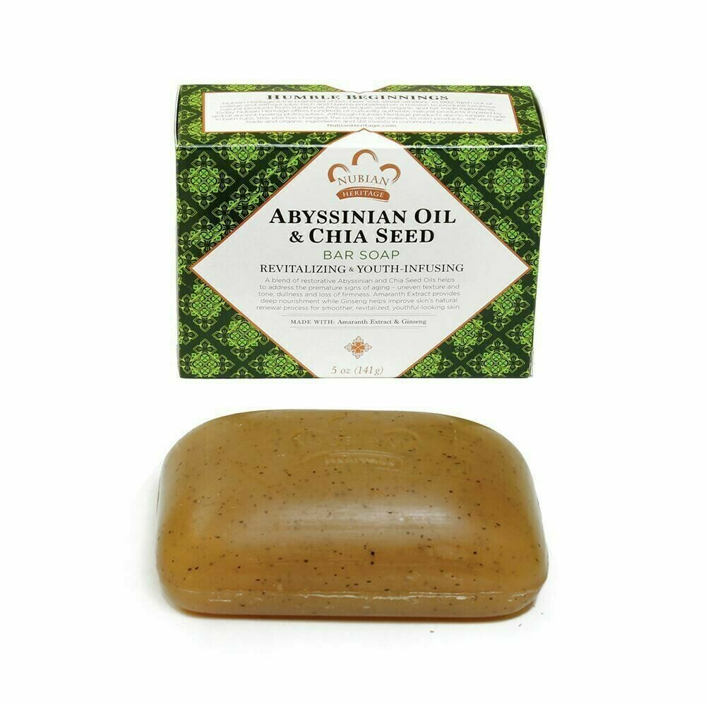 Nubian Heritage Soap (Abyssinian Oil & Chia Seed)
