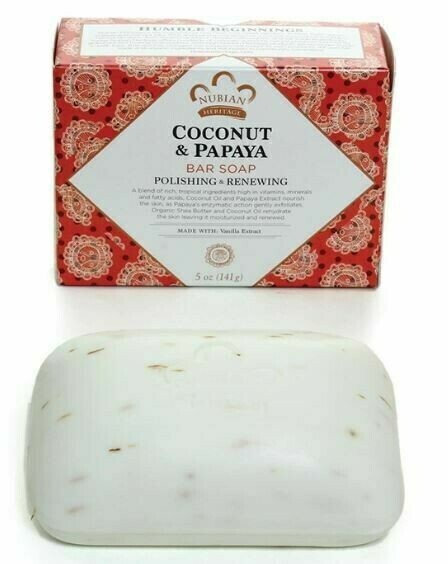 Nubian Heritage Soap (Coconut & Papaya)