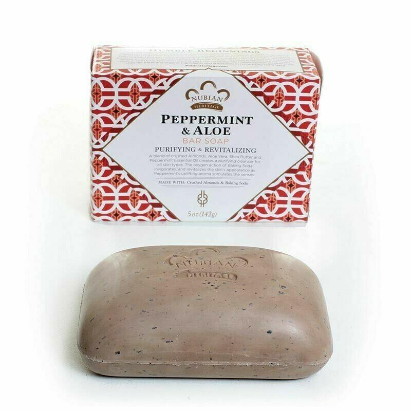 Nubian Heritage Soap (Peppermint & Aloe)