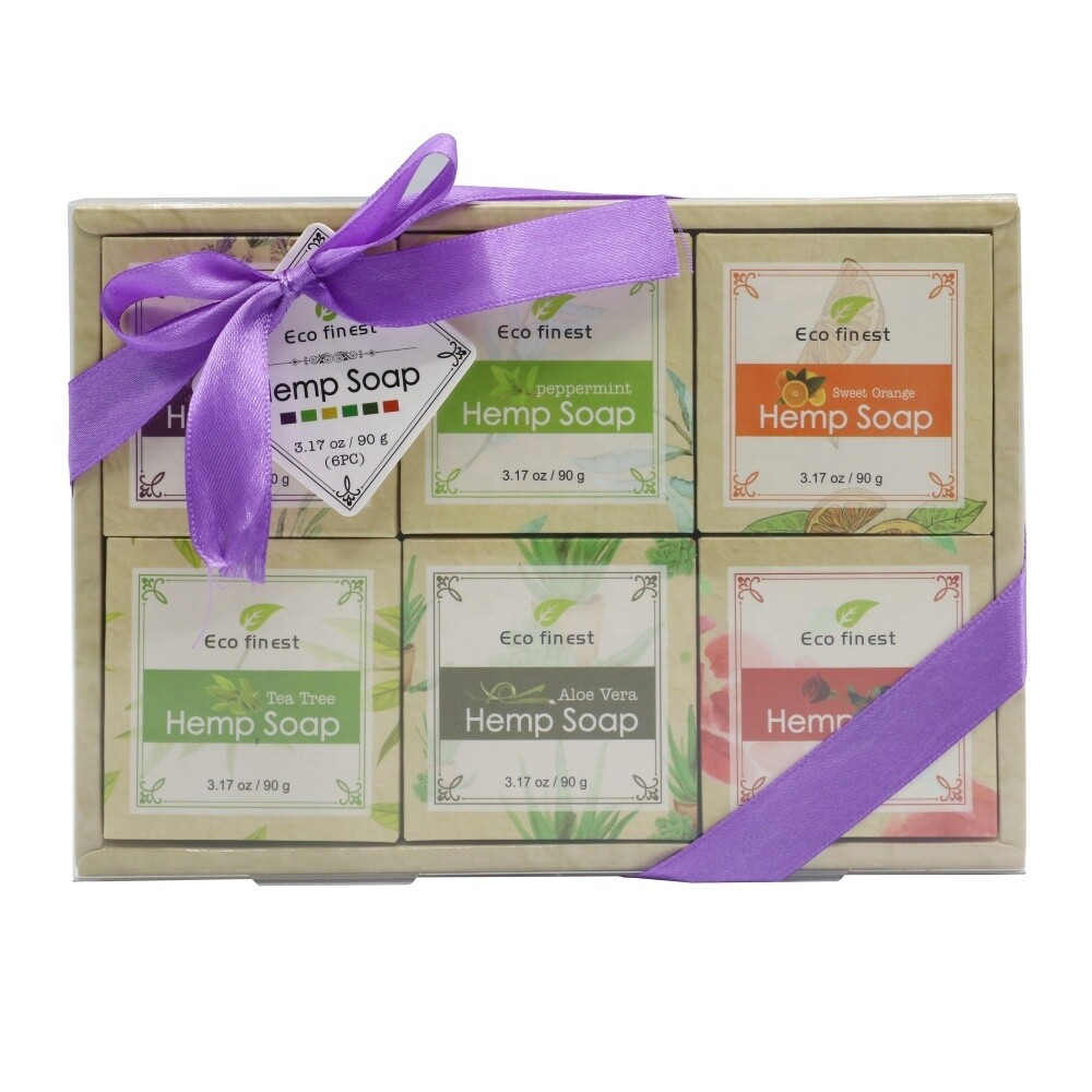 6-piece Organic Hemp Seed Oil Soap Set