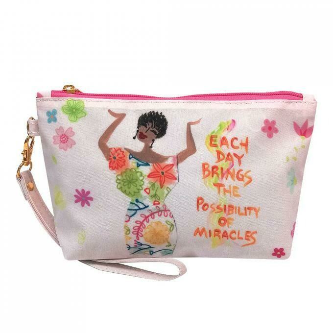 Cosmetic Pouch (Each Day Brings The Possibility of Miracles)