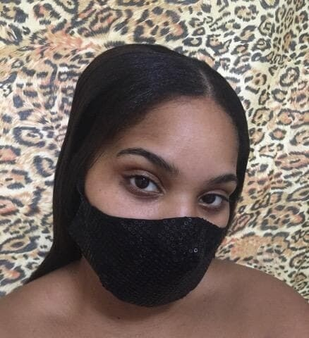 Shiny Sequin Face Cover