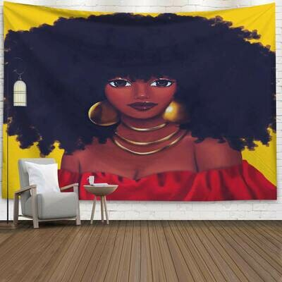 Afrocentric Wall Tapestry (Design #35)