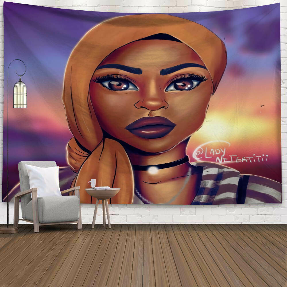 Afrocentric Wall Tapestry (Design #37)