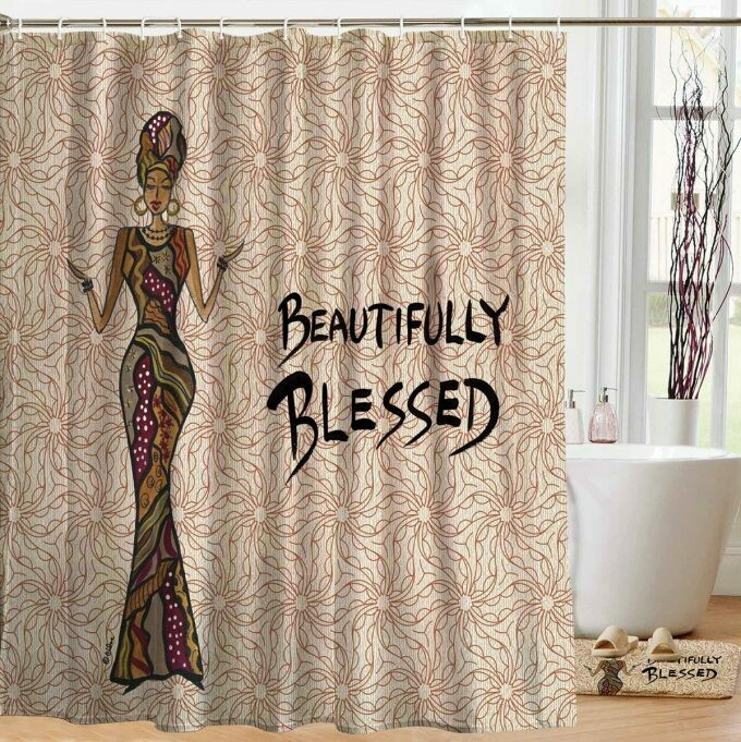 Shower Curtain (Beautifully Blessed)