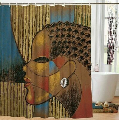 Shower Curtain (Composite of a Woman)