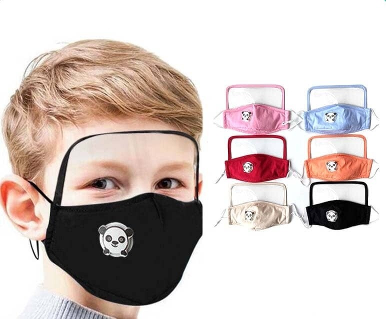 Child Panda Face Shield Mask w/ Filter