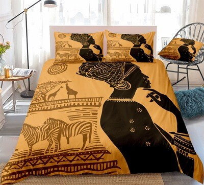 Afrocentric Duvet Cover Set (Design #1)