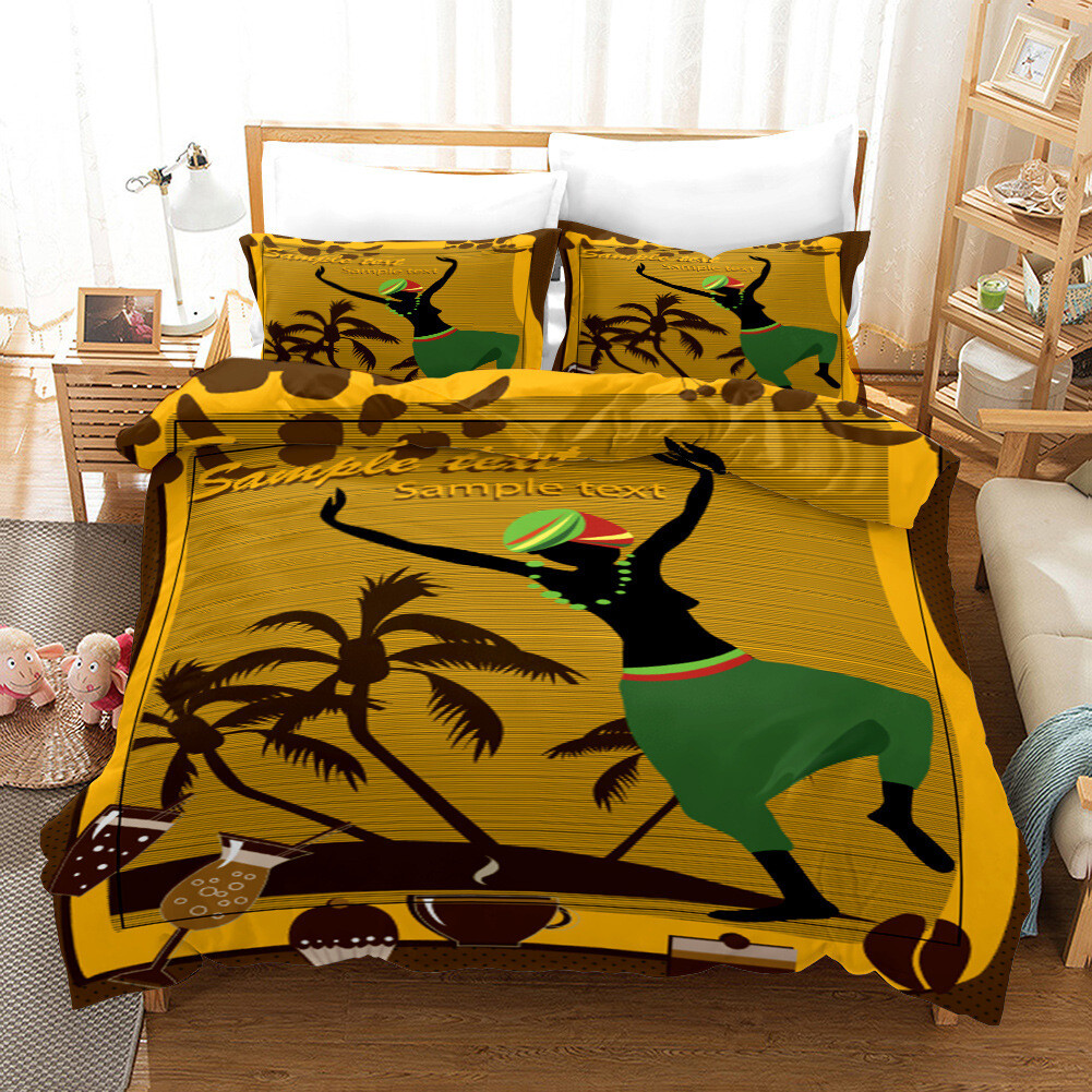 Afrocentric Duvet Cover Set (Design #10)