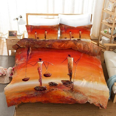 Afrocentric Duvet Cover Set (Design #12)