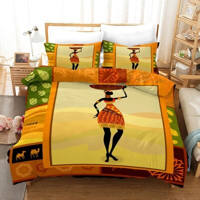 Afrocentric Duvet Cover Set (Design #14)