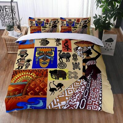 Afrocentric Duvet Cover Set (Design #17)