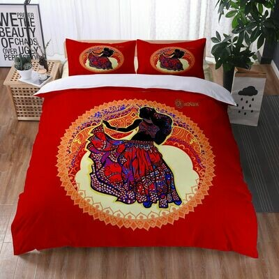 Afrocentric Duvet Cover Set (Design #21)