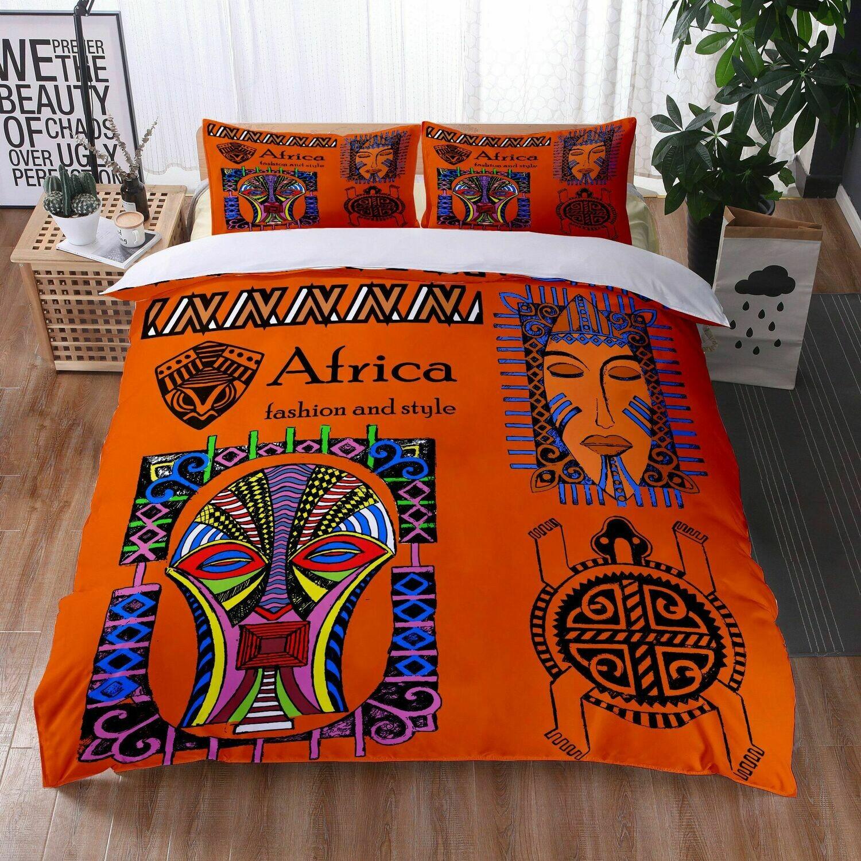 Afrocentric Duvet Cover Set (Design #25)