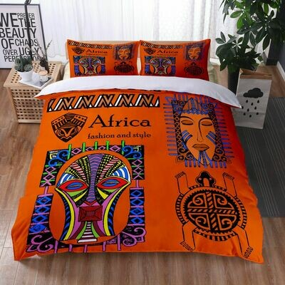 Afrocentric Duvet Cover Set (Design #25)