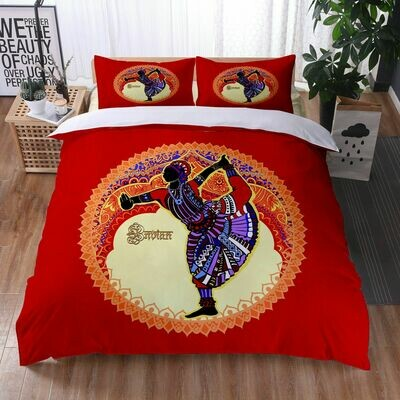 Afrocentric Duvet Cover Set (Design #27)