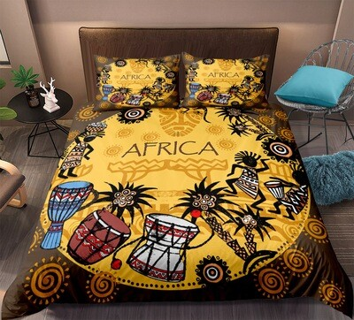 Afrocentric Duvet Cover Set (Design #3)
