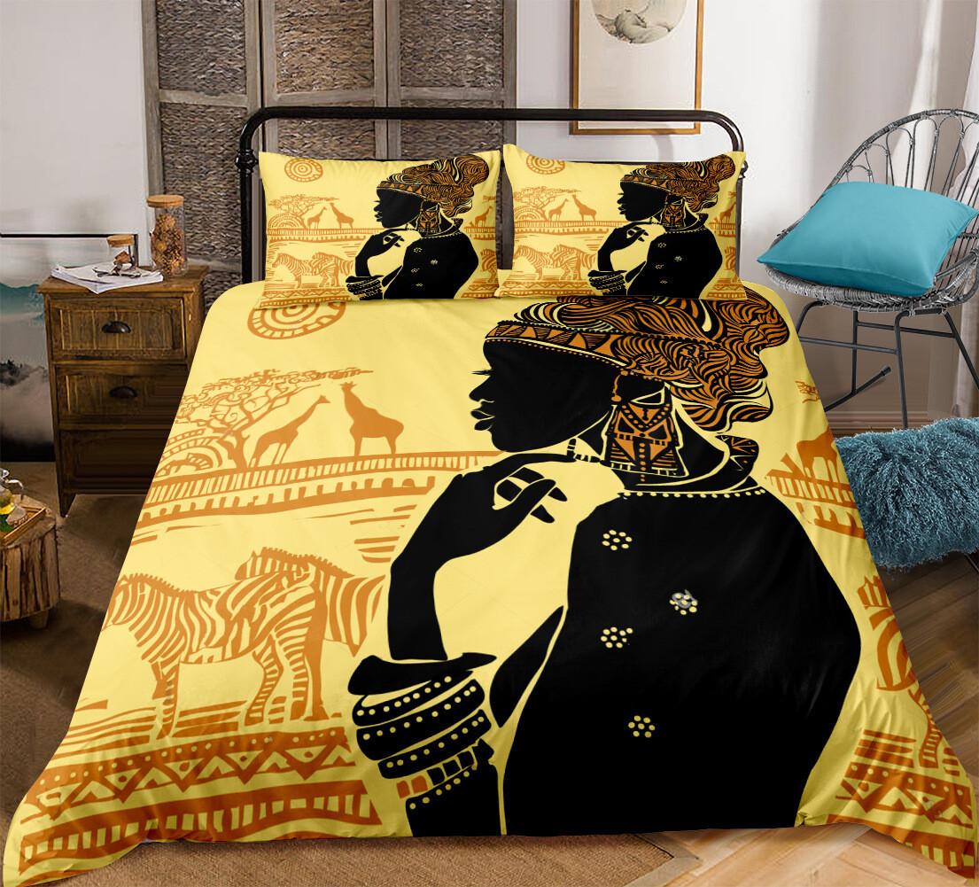Afrocentric Duvet Cover Set (Design #5)