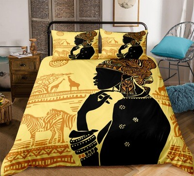 Afrocentric Duvet Cover Set (Design #5)