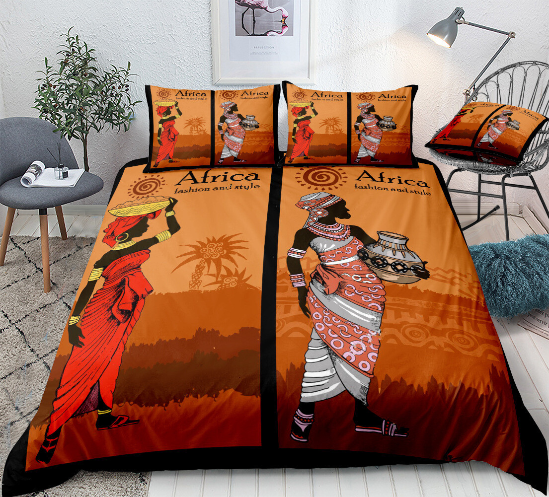 Afrocentric Duvet Cover Set (Design #6)
