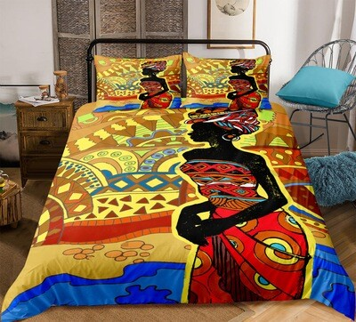 Afrocentric Duvet Cover Set (Design #4)