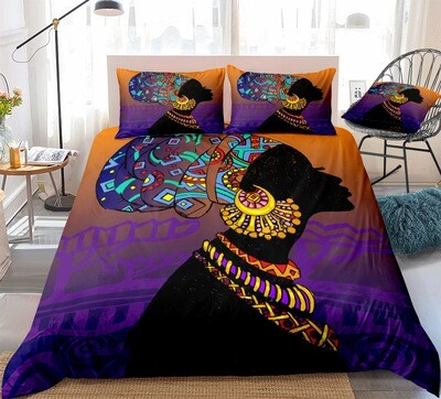 Afrocentric Duvet Cover Set (Design #7)