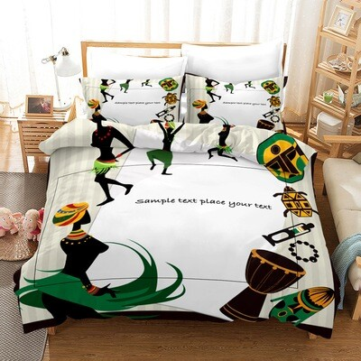 Afrocentric Duvet Cover Set (Design #13)