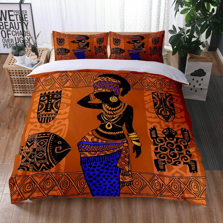 Afrocentric Duvet Cover Set (Design #18)